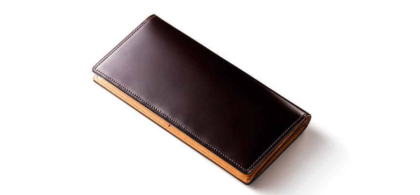 水染めコードバン長財布