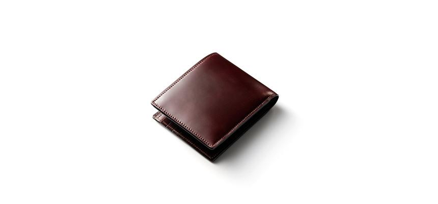 シェルコードバン二つ折り財布