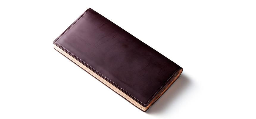 蝋引きコードバン長財布