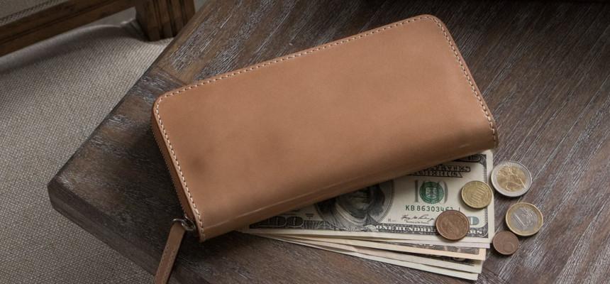 ナチュラルコードバン長財布