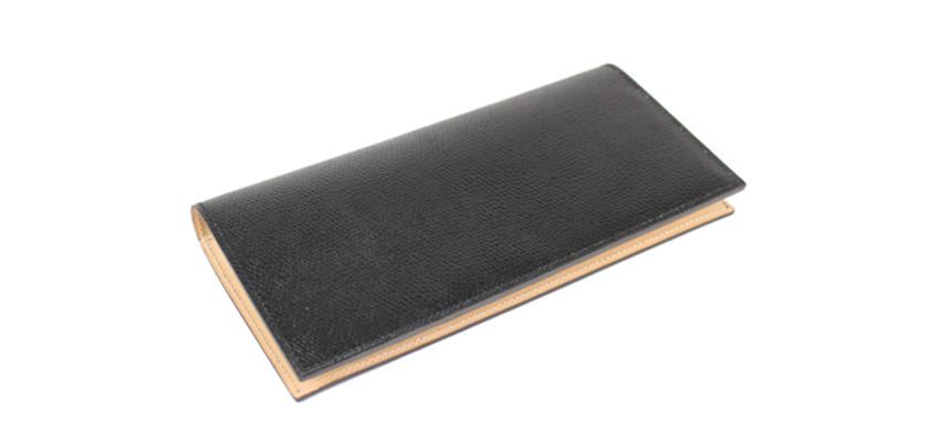 エンボス加工コードバン長財布