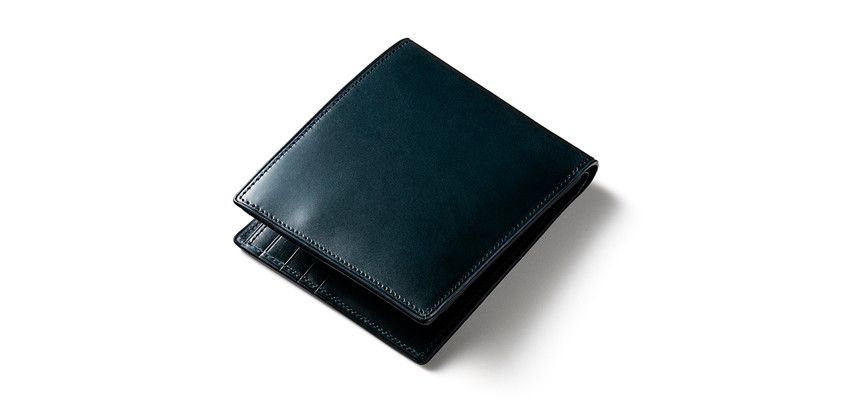 プルアップレザー二つ折り財布
