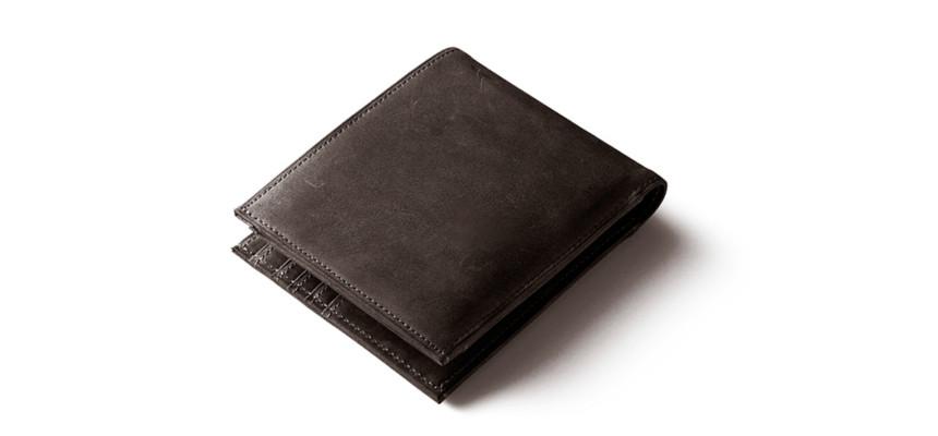 ナポレオンカーフ二つ折り財布