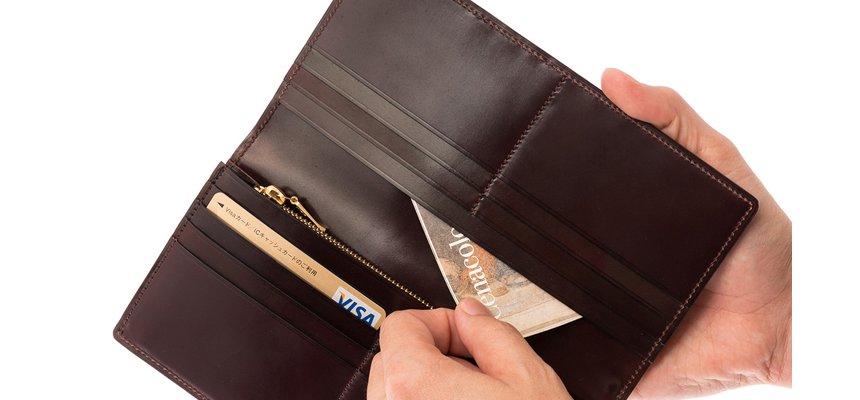 シェルコードバン長財布の機能性