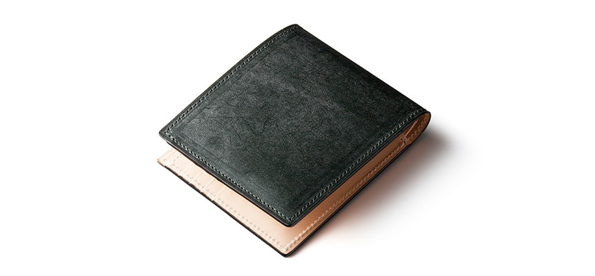 ブライドルレザー仕様二つ折り財布