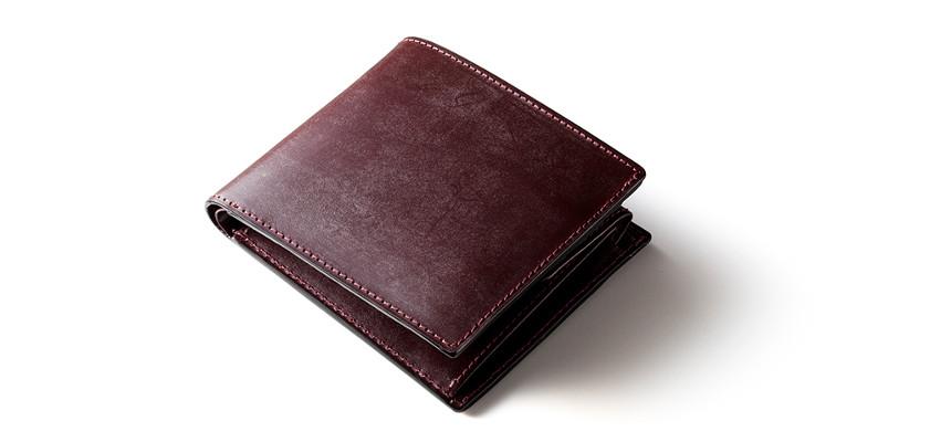 ジョージブライドルレザー二つ折り財布