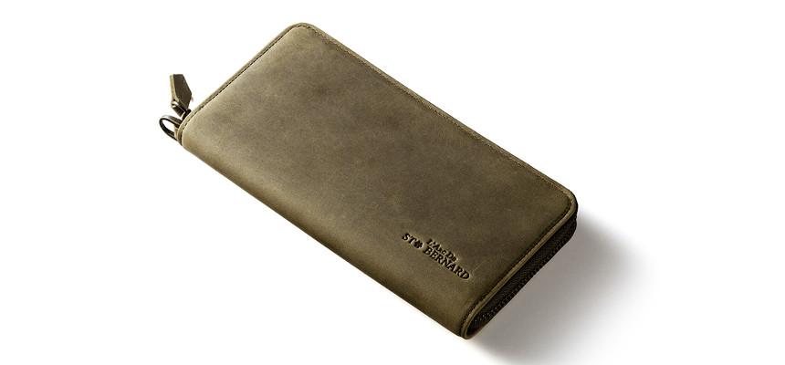 ナポレオンカーフ仕様ラウンドファスナー長財布