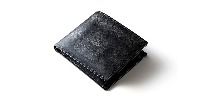ブライドルレザー無双仕様二つ折り財布バイアリーパース