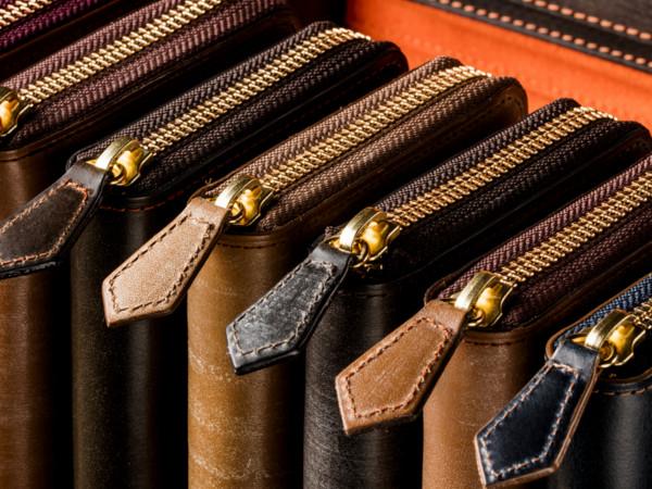 本革メンズ長財布の形とイメージ