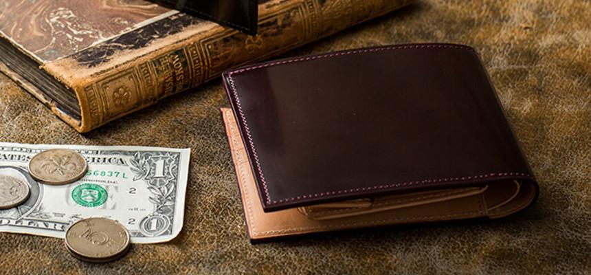 FLYING HORSEコードバン二つ折り財布