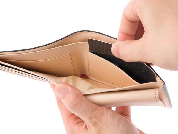札入りスペース内のカードポケット