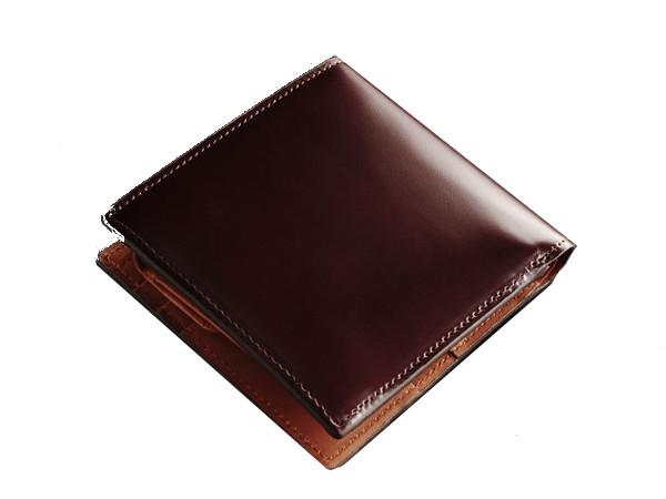 PRARE(プレリー)「09000036-mens-1r」 コードバン二つ折り財布