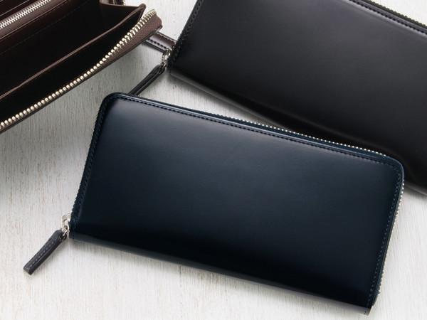 コードバン&リンピッドカーフ「ラウンドファスナー長財布(5300)