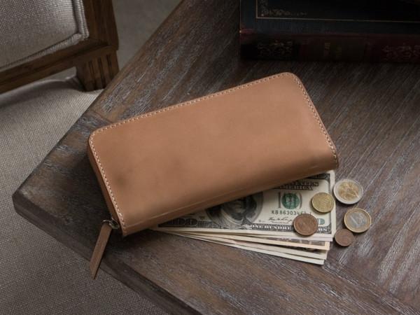 無二「MWR01ML」コードバン財布の風合い