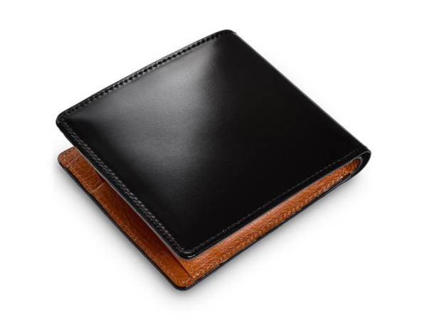 水染めコードバン二つ折り財布