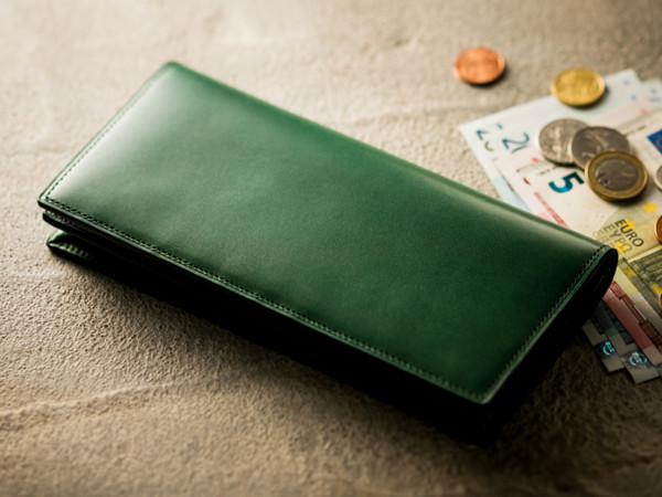 緑色の革財布