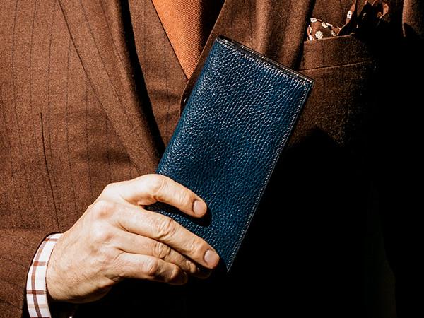 ロッソピエトラ・スリム長財布