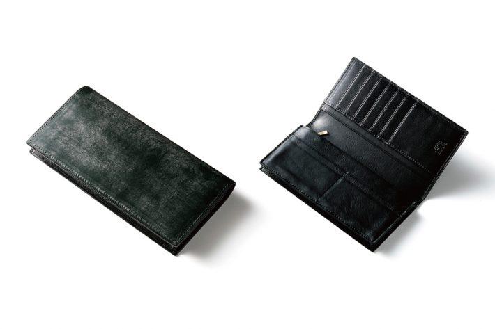 ブライドルレザー仕様の長財布「スプレッドイーグル」