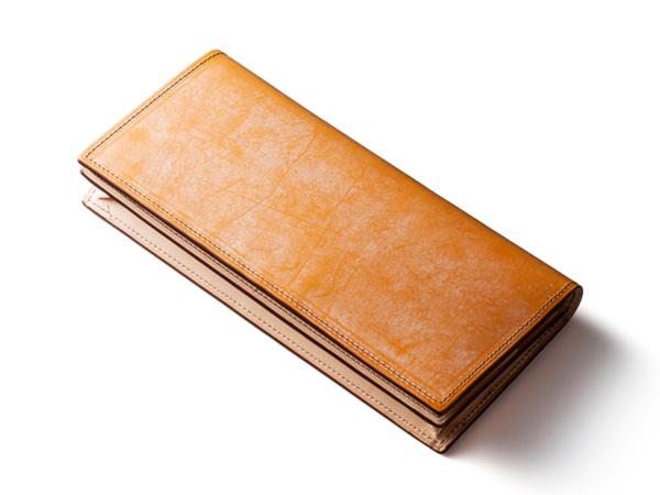 黄色の革財布