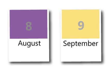 8月・9月の季節