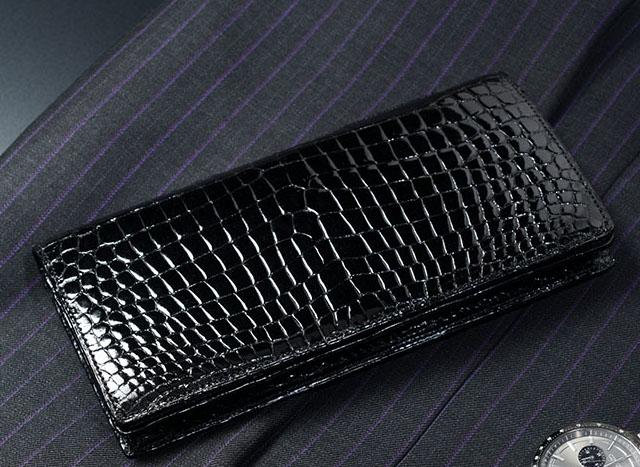 スモールクロコダイル革財布