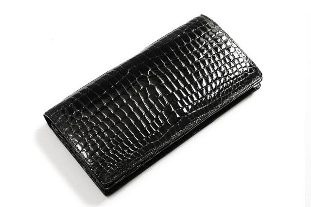 スモールクロコダイル(シャイニング)無双仕様長財布