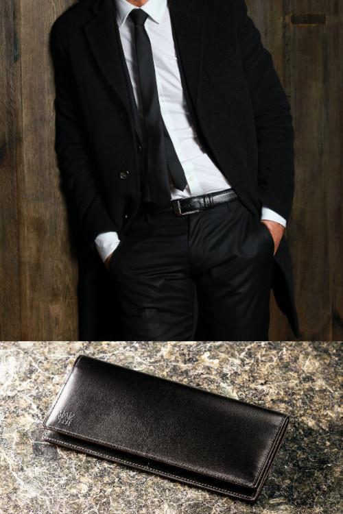 革財布のコーディネイト