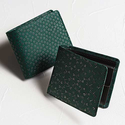 【JIZAING×INDEN】甲州印伝二つ折り財布