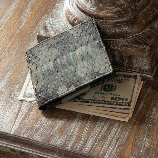 LE'SAC パイソン二つ折り財布「LS8121」