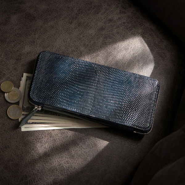 リザードレザー」革財布