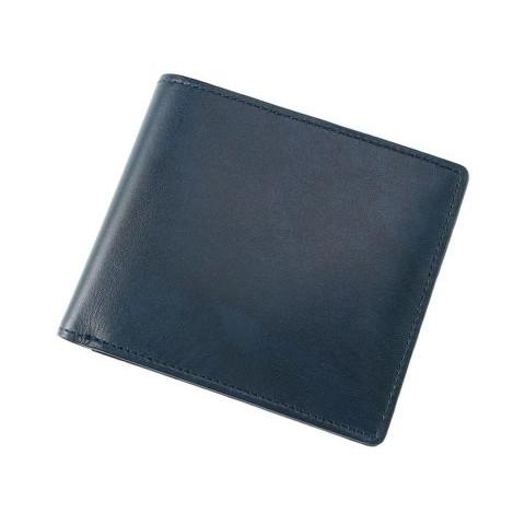 シラサギレザー ボックス小銭入れ付き二つ折り財布「108222」