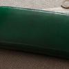 人気の風水カラー「緑色」が魅力のイタリアンレザー財布(メンズ)