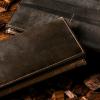 ウェスターリー|オークバーク仕様の長財布!美しい木目の革財布。