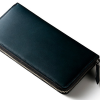 クラウディオ長財布|プルアップレザーのラウンドファスナー革財布